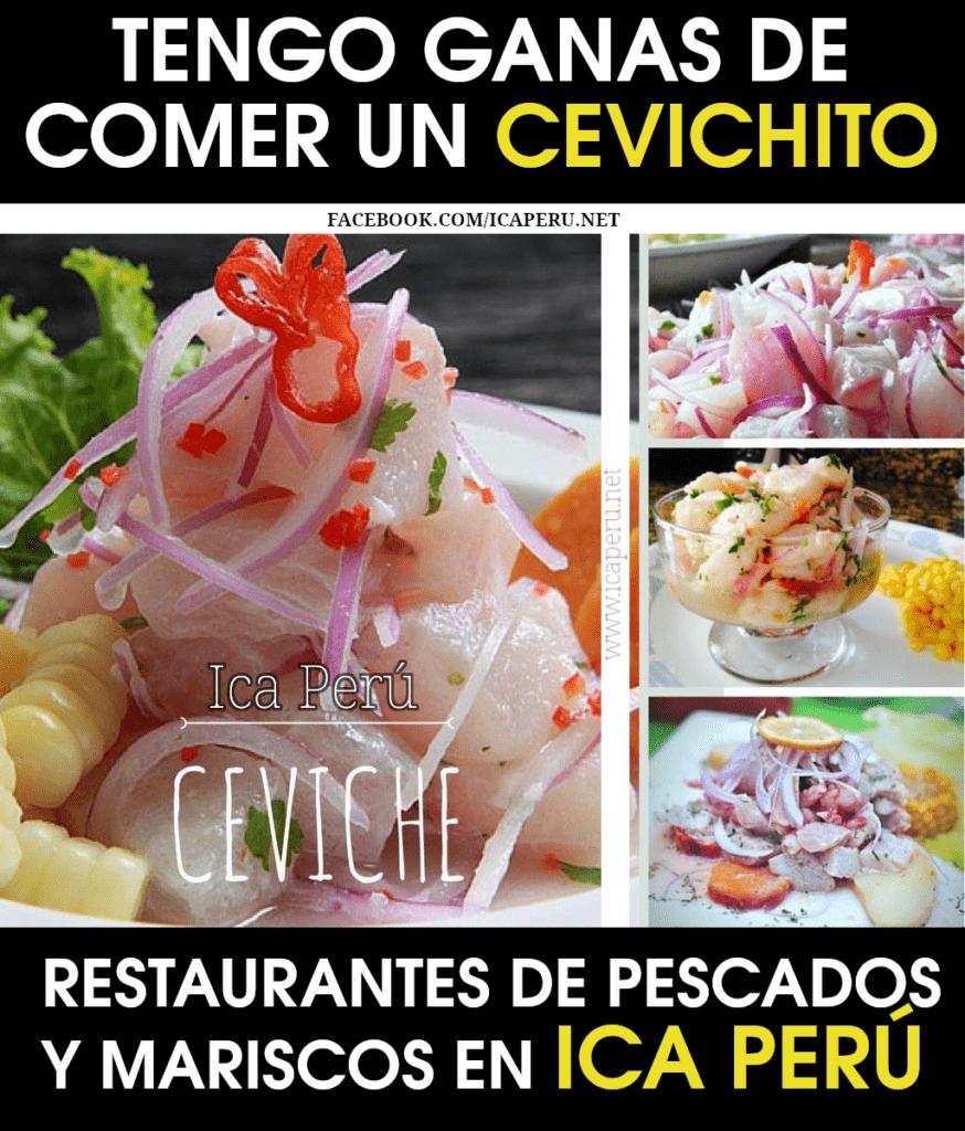 Restaurantes de Pescados y Mariscos, Ceviche en ICA