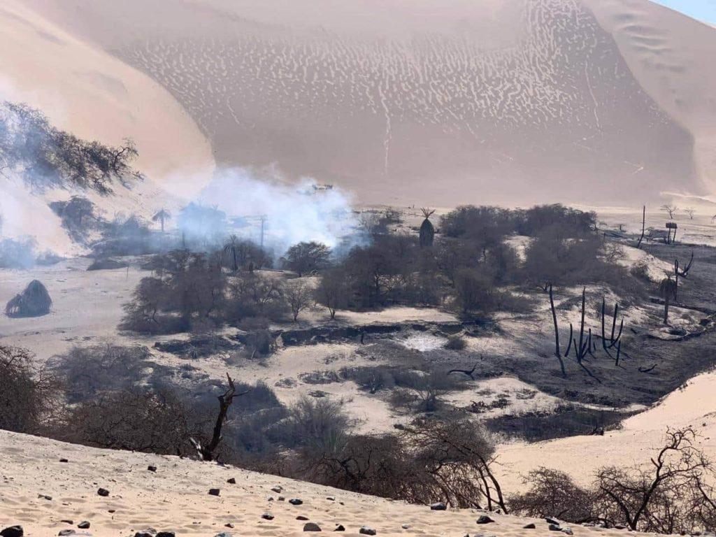 Incineración de Huarangos