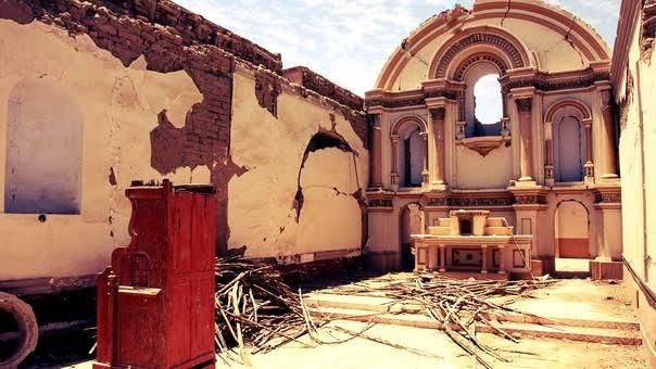 Iglesia San Juan de Dios de Ica - Terremoto de Pisco 15 de Agosto 2007
