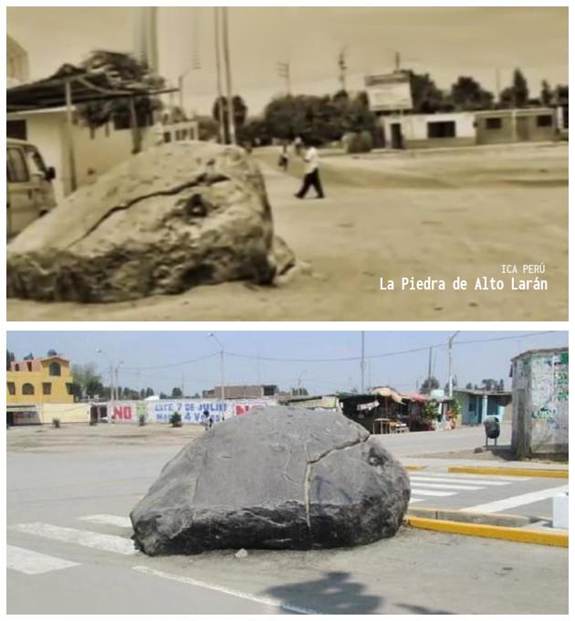 FOTO, ANTIGUA - ACTUAL: La Piedra de Alto Larán | CHINCHA - PERÚ
