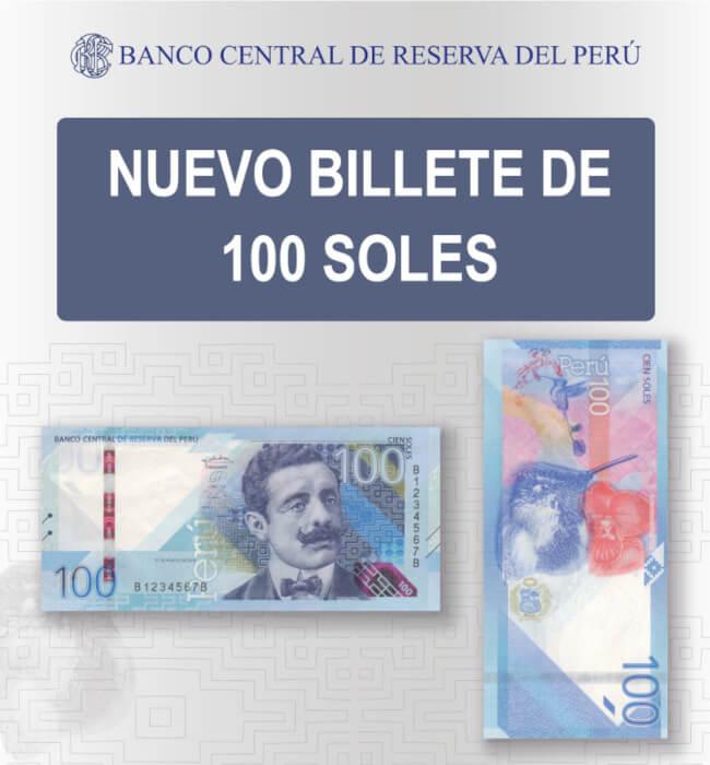 Circulación nuevos billetes de S/10 y S/100